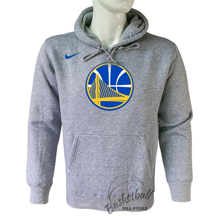 Choisir Hoodies NBA Golden State Warriors Nike Gris
