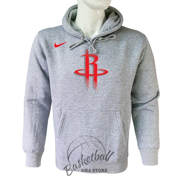 Choisir Hoodies NBA Houston Rockets Nike Gris