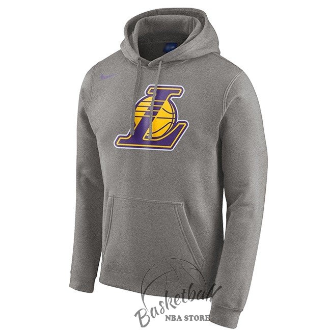 Choisir Hoodies NBA Los Angeles Lakers Nike Gris
