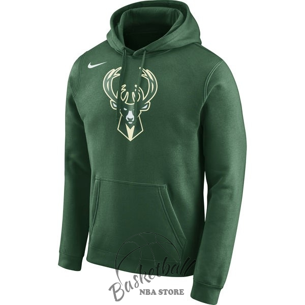 Choisir Hoodies NBA Milwaukee Bucks Nike Vert