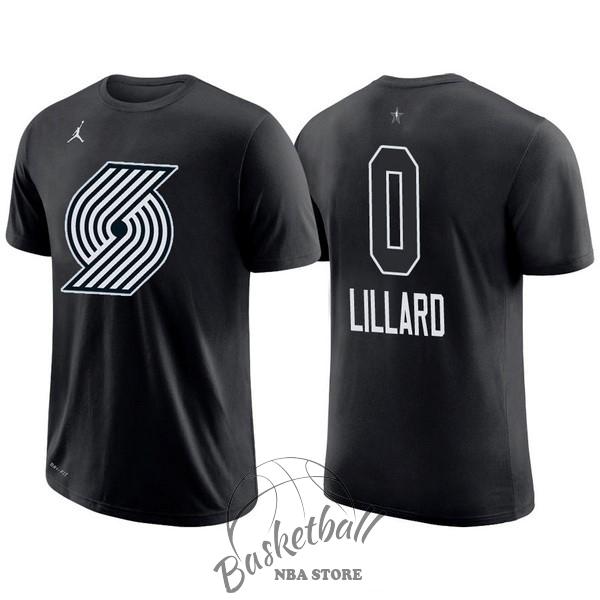 f90bcebe4a606 Choisir Maillot NBA 2018 All Star Manche Courte NO.0 Damian Lillard Noir