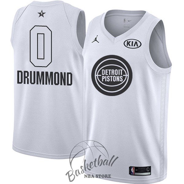 Choisir Maillot NBA 2018 All Star NO.0 Andre Drummond Blanc