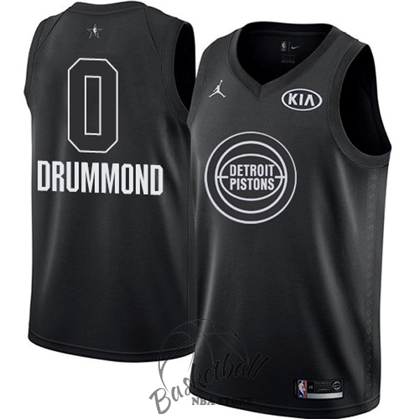 Choisir Maillot NBA 2018 All Star NO.0 Andre Drummond Noir