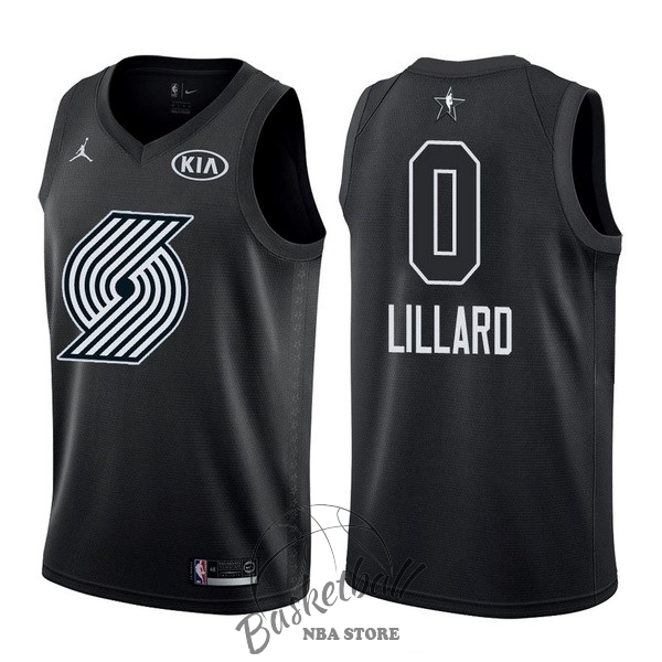 Choisir Maillot NBA 2018 All Star NO.0 Damian Lillard Noir