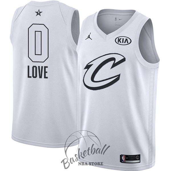 Choisir Maillot NBA 2018 All Star NO.0 Kevin Love Blanc