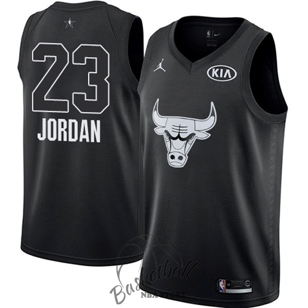 Choisir Maillot NBA 2018 All Star NO.23 Michael Jordan Noir