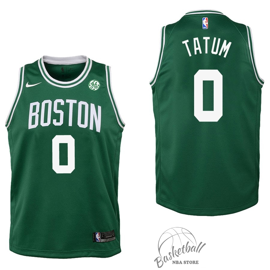 Choisir Maillot NBA Enfant Boston Celtics NO.0 Jayson Tatum Vert 2017-18