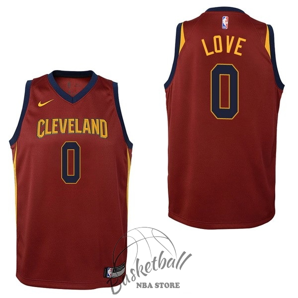 Choisir Maillot NBA Enfant Cleveland Cavaliers NO.0 Kevin Love Rouge Icon 2017-18