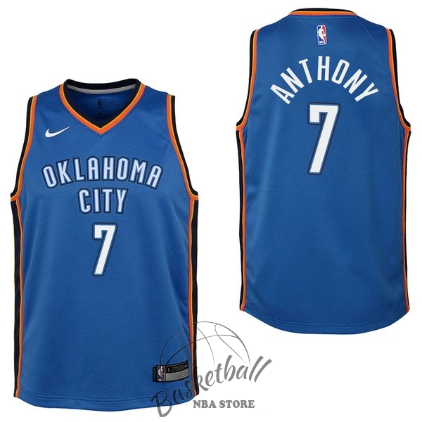 Choisir Maillot NBA Enfant Oklahoma City Thunder NO.7 Carmelo Anthony Bleu Icon 2017-18