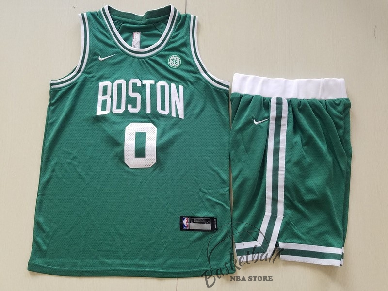 Choisir Maillot NBA Ensemble Complet Enfant Boston Celtics NO.0 Jayson Tatum Vert 2017-18