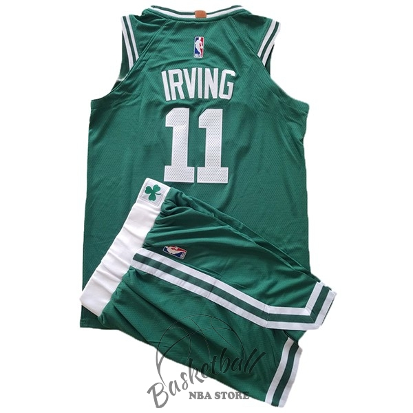 Choisir Maillot NBA Ensemble Complet Enfant Boston Celtics NO.11 Kyrie Irving Vert