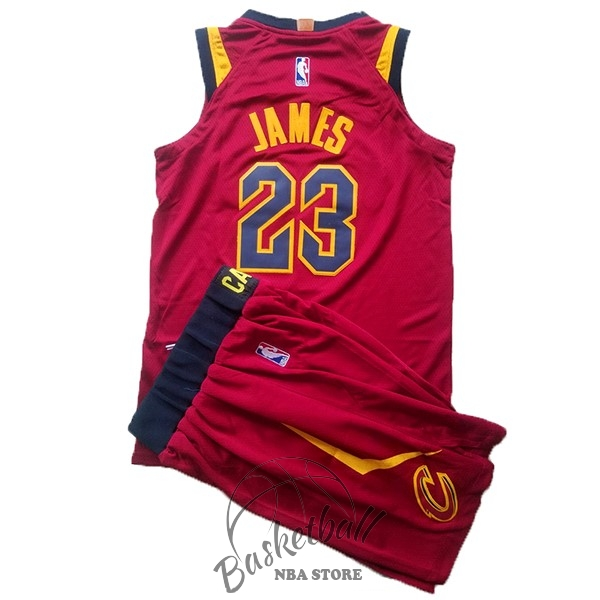 Choisir Maillot NBA Ensemble Complet Enfant Cleveland Cavaliers NO.23 LeBron James Rouge 2017-18