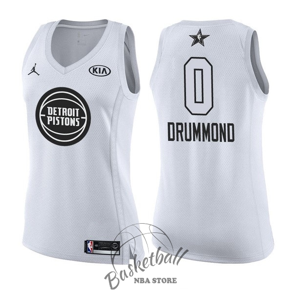 Choisir Maillot NBA Femme 2018 All Star NO.0 Andre Drummond Blanc