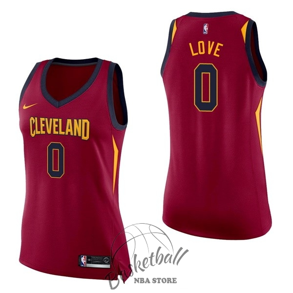 Choisir Maillot NBA Femme Cleveland Cavaliers NO.0 Kevin Love Rouge Icon