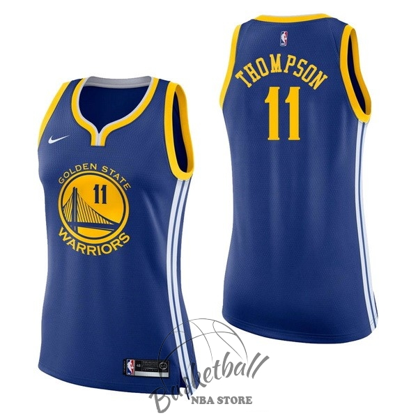 Choisir Maillot NBA Femme Golden State Warriors NO.11 Klay Thompson Bleu Icon