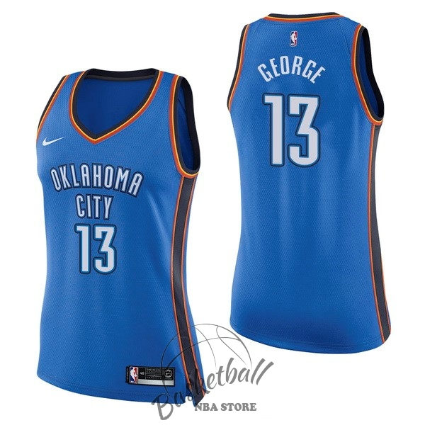 Choisir Maillot NBA Femme Oklahoma City Thunder NO.13 Paul George Bleu Icon