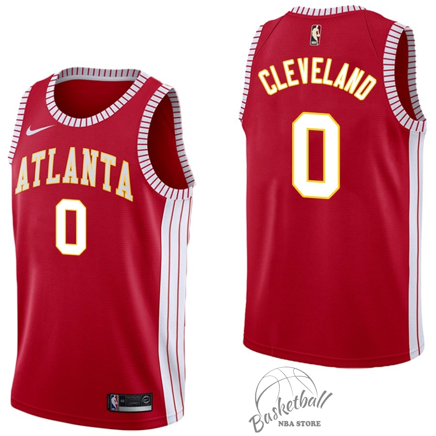 Choisir Maillot NBA Nike Atlanta Hawks NO.0 Antonius Cleveland Retro Rouge
