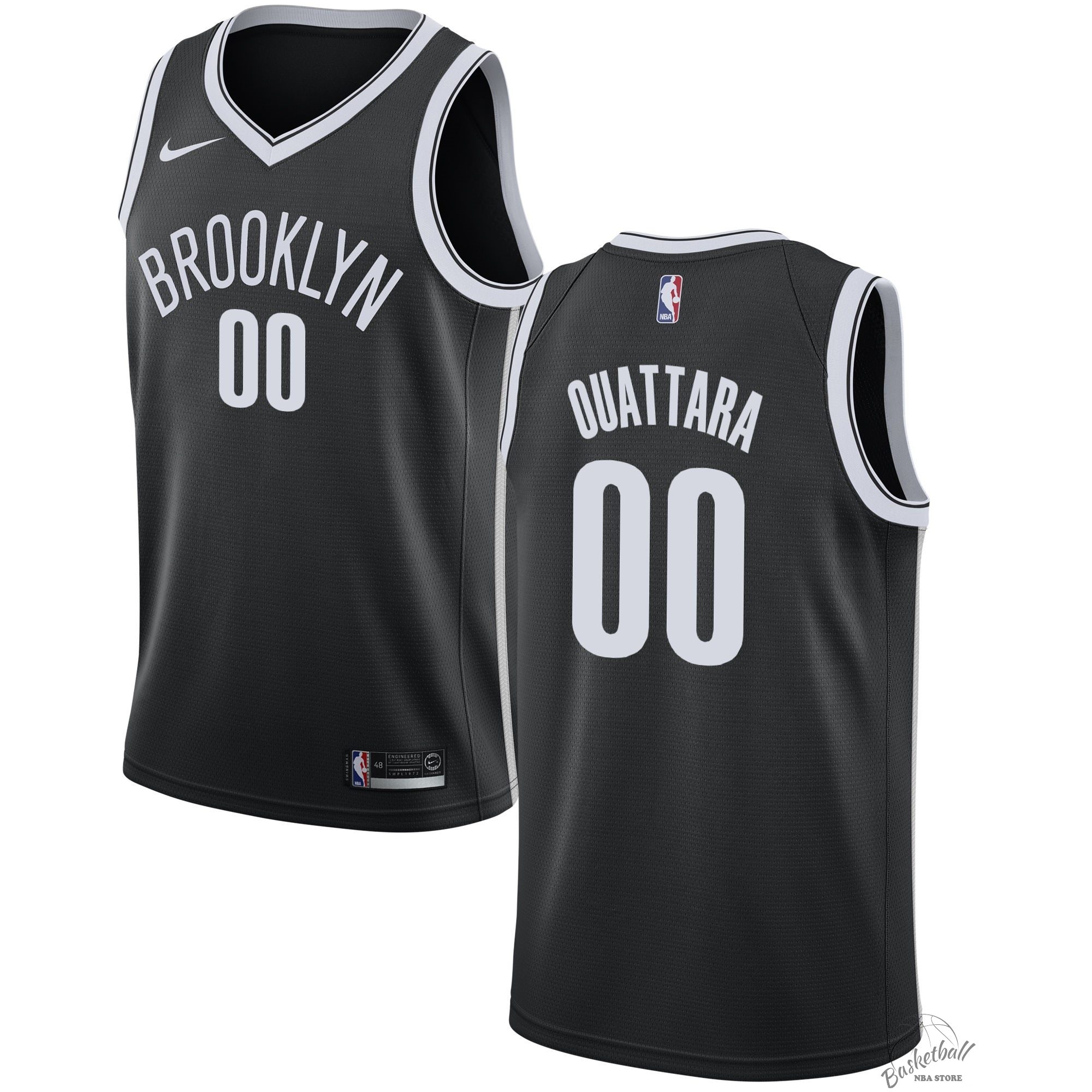 Choisir Maillot NBA Nike Brooklyn Nets NO.0 Yakuba Ouattara Noir Icon