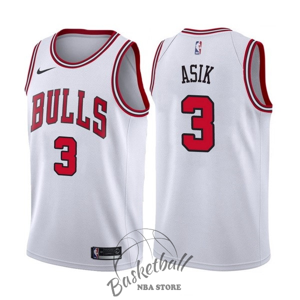 Choisir Maillot NBA Nike Chicago Bulls NO.3 Dwyane Wade Blanc Association
