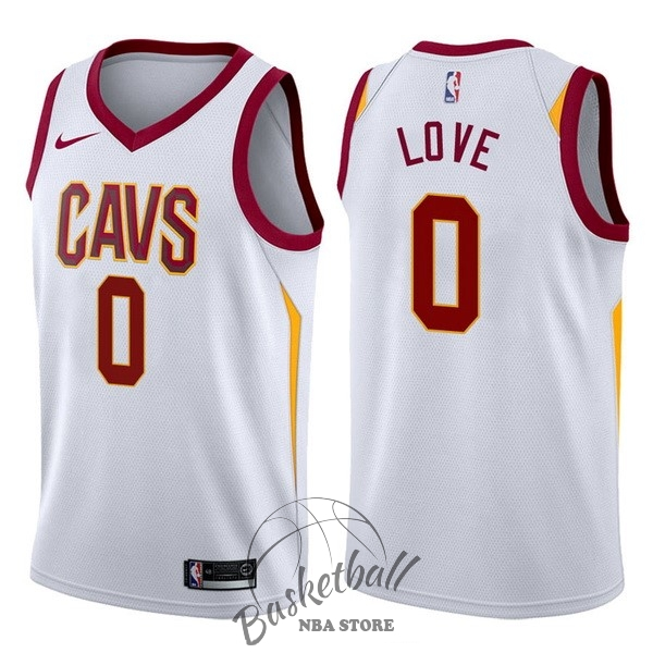 Choisir Maillot NBA Nike Cleveland Cavaliers NO.0 Kevin Love Blanc Association