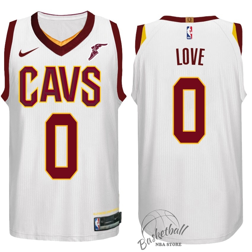 Choisir Maillot NBA Nike Cleveland Cavaliers NO.0 Kevin Love Blanc