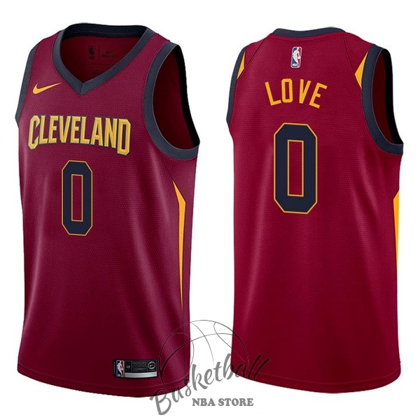 Choisir Maillot NBA Nike Cleveland Cavaliers NO.0 Kevin Love Rouge Icon