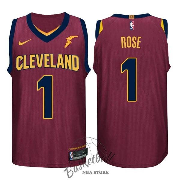 Choisir Maillot NBA Nike Cleveland Cavaliers NO.1 Derrick Rose Rouge