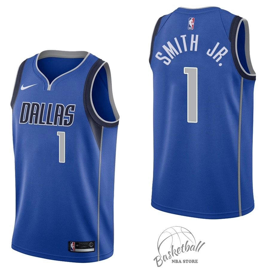 Choisir Maillot NBA Nike Dallas Mavericks NO.1 Dennis Smith Jr Bleu Icon