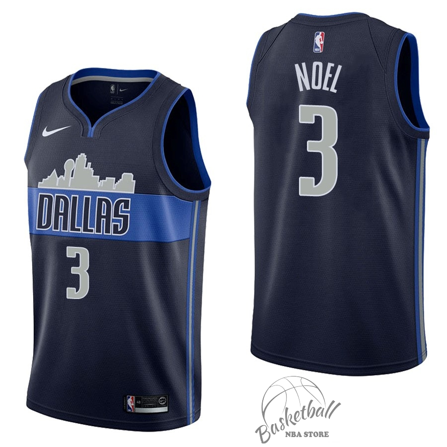 Choisir Maillot NBA Nike Dallas Mavericks NO.3 Nerlens Noel Noir Statement