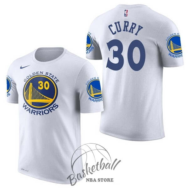 Choisir Maillot NBA Nike Golden State Warriors Manche Courte NO.30 Stephen Curry Blanc