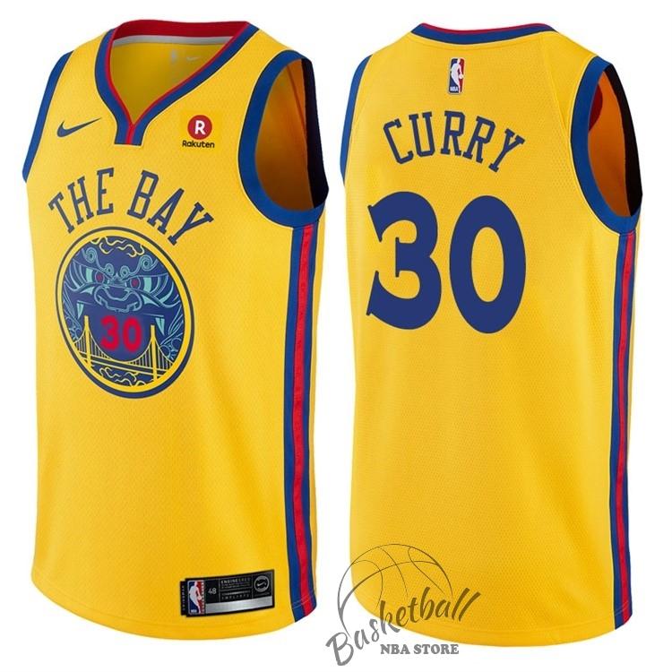 6321c7a6c36d3 Choisir Maillot NBA Nike Golden State Warriors NO.30 Stephen Curry Jaune  Ville