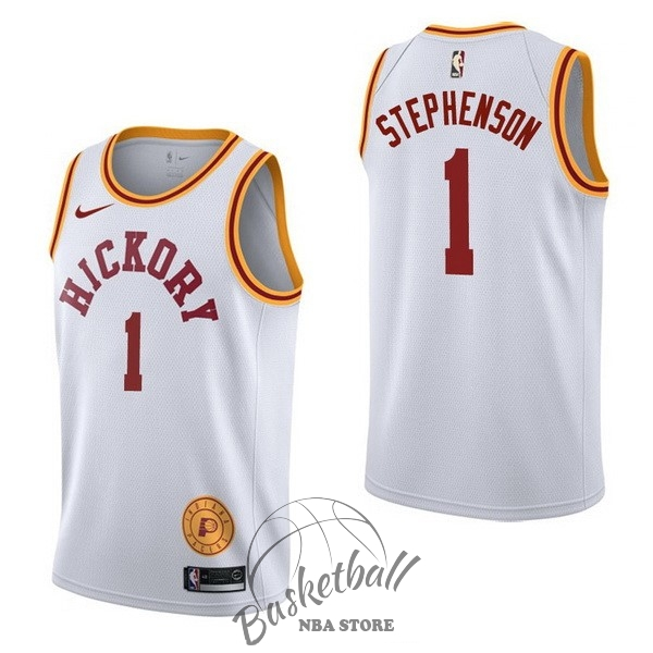 Choisir Maillot NBA Nike Indiana Pacers NO.1 Lance Stephenson Retro Blanc
