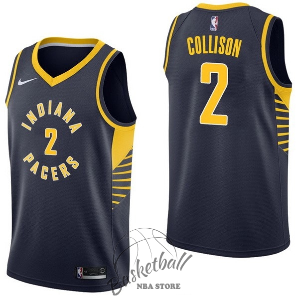 Choisir Maillot NBA Nike Indiana Pacers NO.2 Darren Collison Marine Icon