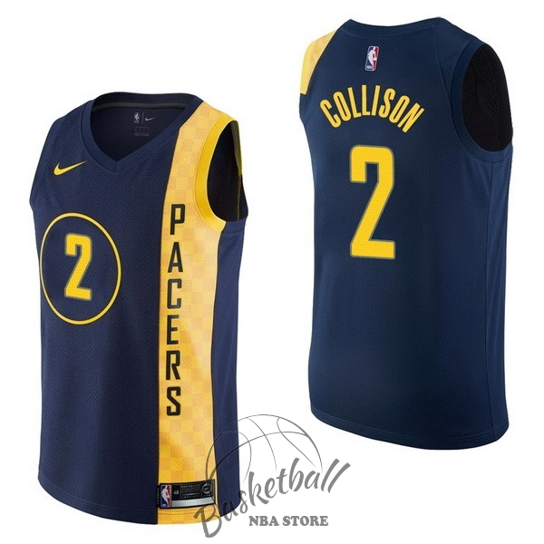 Choisir Maillot NBA Nike Indiana Pacers NO.2 Darren Collison Nike Marine Ville