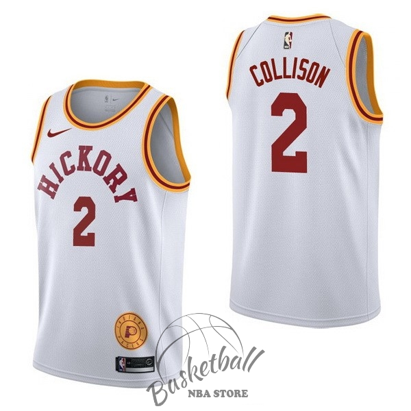 Choisir Maillot NBA Nike Indiana Pacers NO.2 Darren Collison Retro Blanc