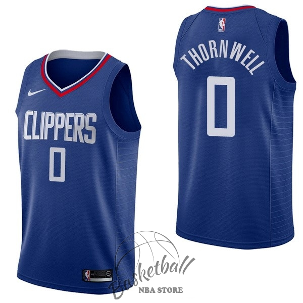 Choisir Maillot NBA Nike Los Angeles Clippers NO.0 Sindarius Thornwell Bleu Icon