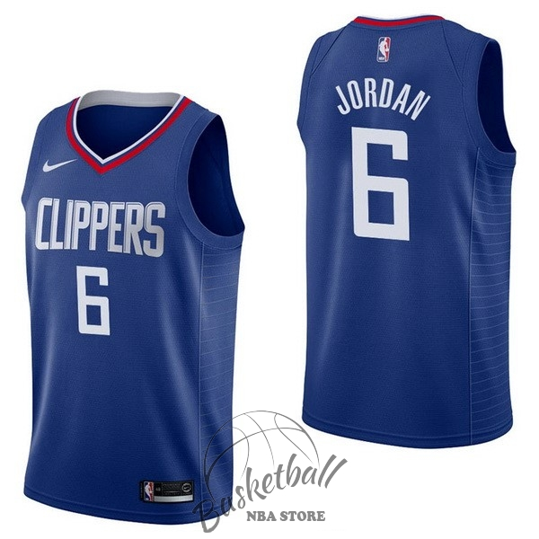 Choisir Maillot NBA Nike Los Angeles Clippers NO.6 DeAndre Jordan Bleu Icon
