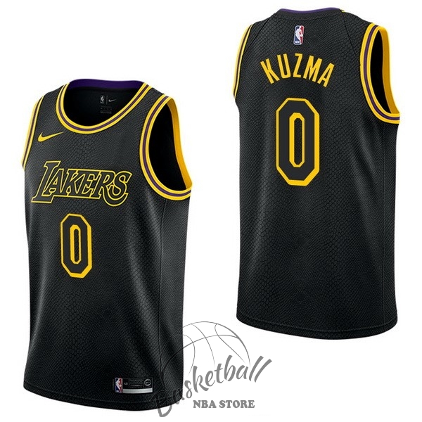 Choisir Maillot NBA Nike Los Angeles Lakers NO.0 Kyle Kuzma Nike Noir Ville