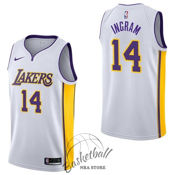 Choisir Maillot NBA Nike Los Angeles Lakers NO.14 Brandon Ingram Blanc Association
