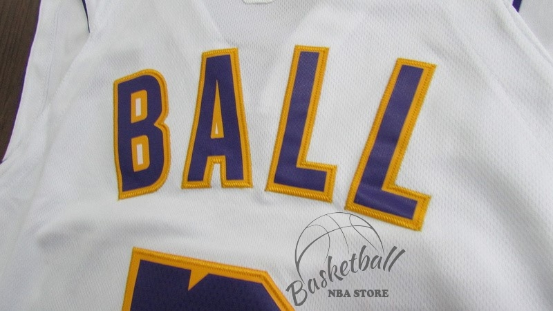 6d6d3a276c7 ... Choisir Maillot NBA Nike Los Angeles Lakers NO.2 Lonzo Ball Blanc  Association ...