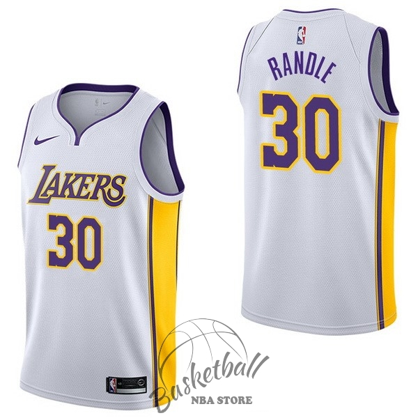 Choisir Maillot NBA Nike Los Angeles Lakers NO.30 Julius Randle Blanc Association