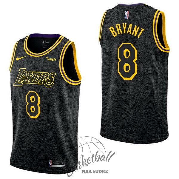Choisir Maillot NBA Nike Los Angeles Lakers NO.8 Kobe Bryant Noir