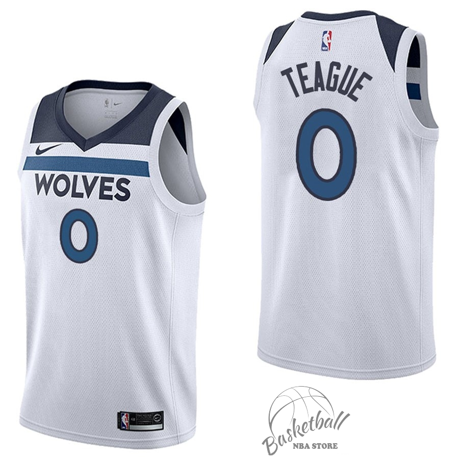 Choisir Maillot NBA Nike Minnesota Timberwolves NO.0 Jeff Teague Blanc Association