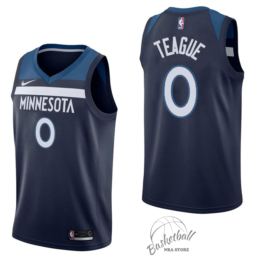 Choisir Maillot NBA Nike Minnesota Timberwolves NO.0 Jeff Teague Marine Icon