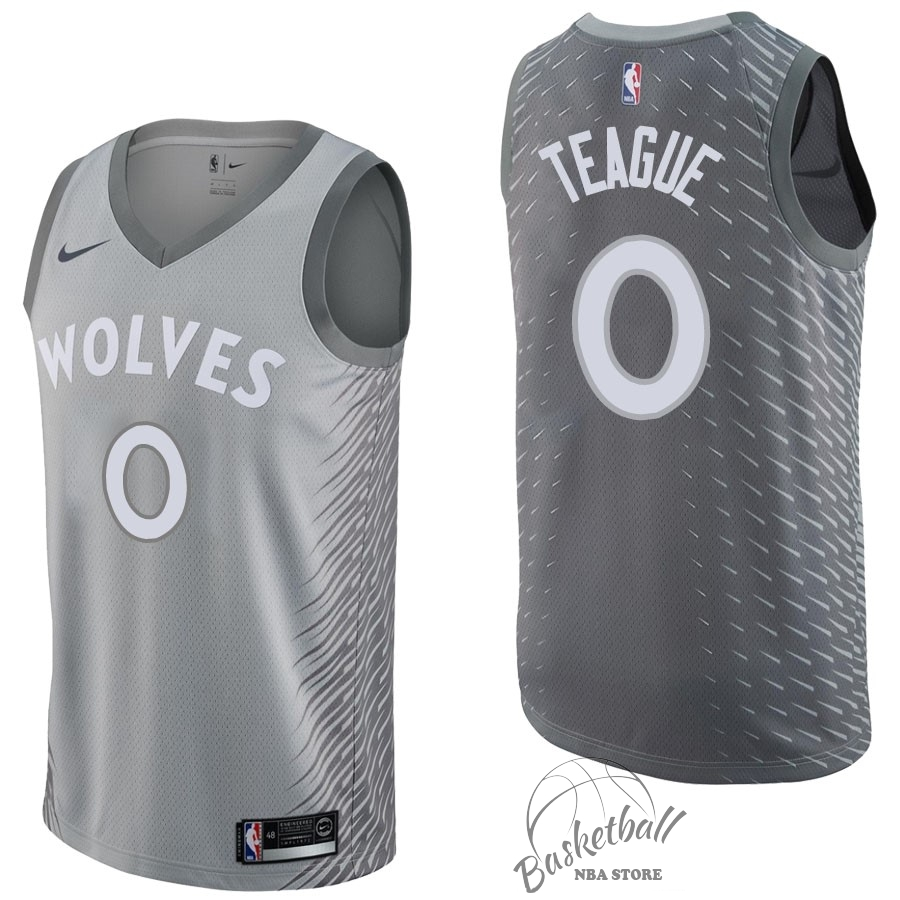 Choisir Maillot NBA Nike Minnesota Timberwolves NO.0 Jeff Teague Nike Gris Ville