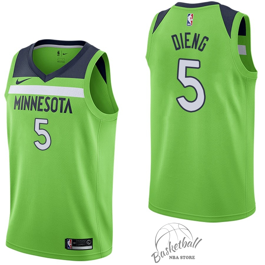 Choisir Maillot NBA Nike Minnesota Timberwolves NO.5 Gorgui Dieng Vert Statement