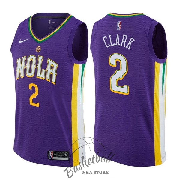 Choisir Maillot NBA Nike New Orleans Pelicans NO.2 Ian Clark Nike Pourpre Ville