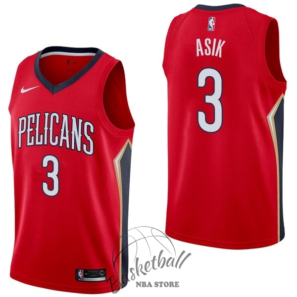 Choisir Maillot NBA Nike New Orleans Pelicans NO.3 Omer Asik Rouge Statement