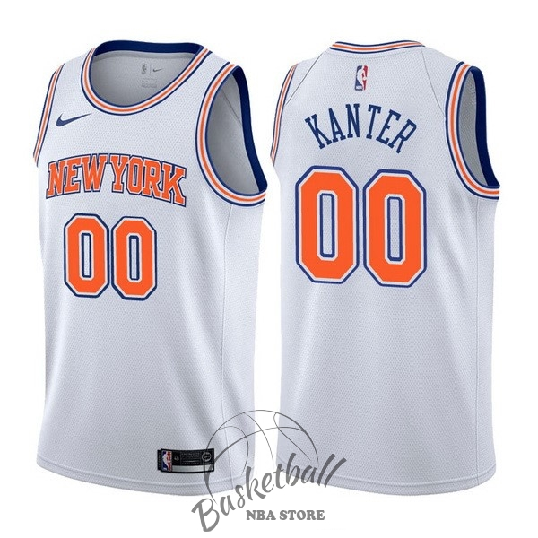 Choisir Maillot NBA Nike New York Knicks NO.0 Enes Kanter Blanc Statement