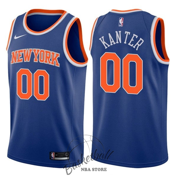 Choisir Maillot NBA Nike New York Knicks NO.0 Enes Kanter Bleu Icon